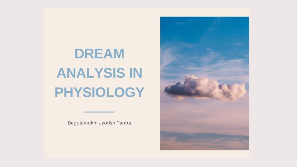Dream analysis in physiology