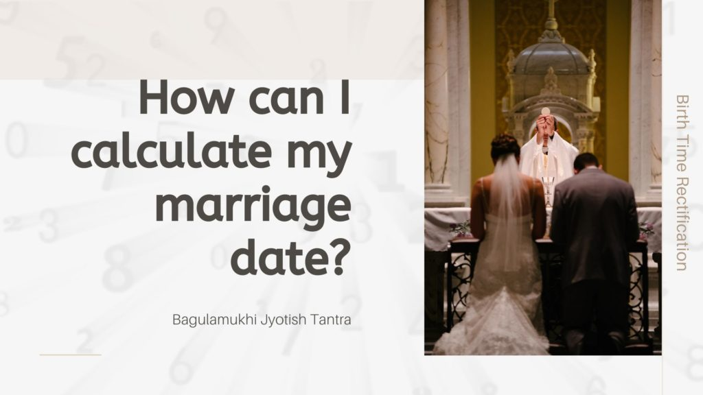 How can I calculate my marriage date