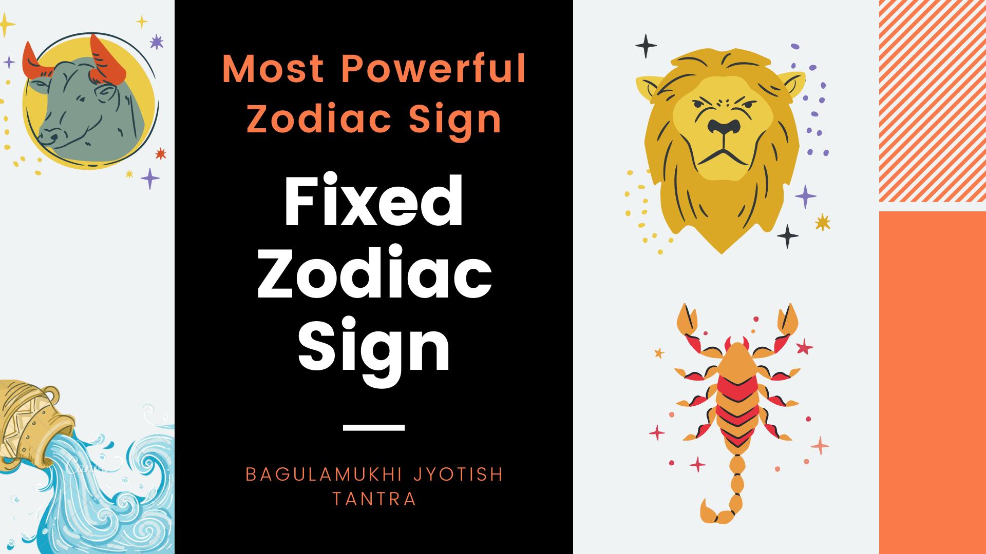 Fixed Zodiac Sign